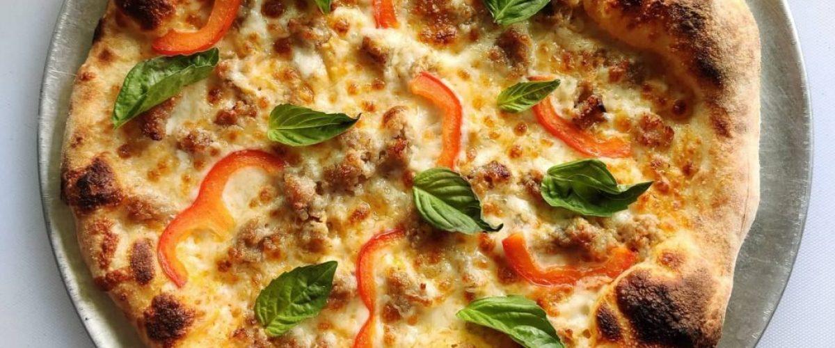 Thai panang curry pizza